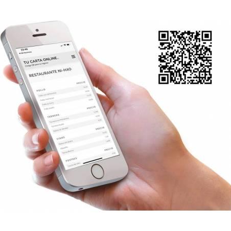 Carta Digital con Código de barras QR