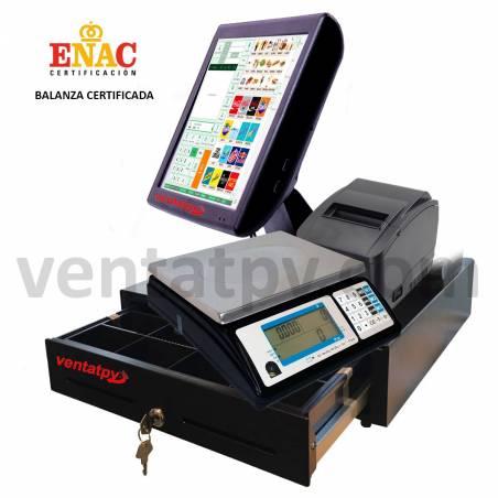 Tpv con Balanza. Impresora, cajón y software.