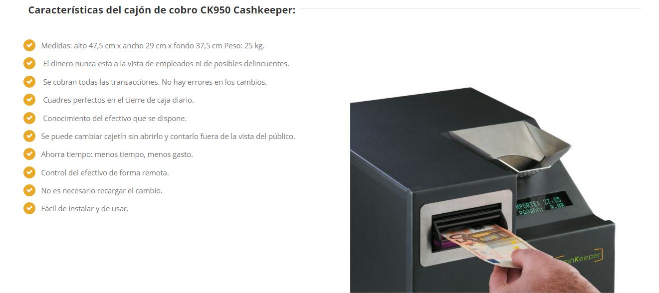 caracteristicas cashkeeper ck950