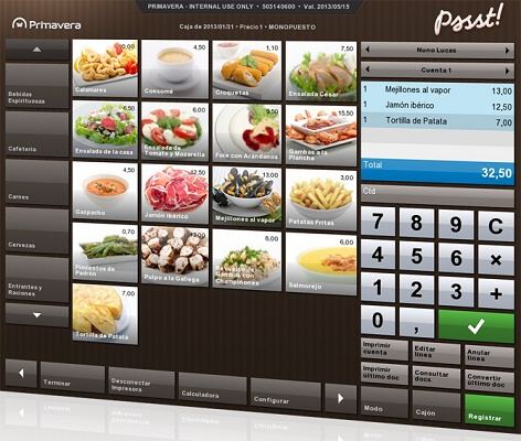 software tpv hosteleria